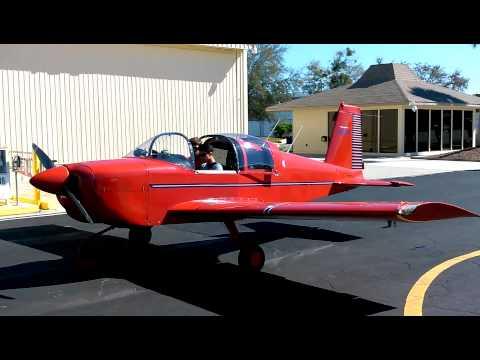 Grumman AA-1 Yankee startup @ Spruce Creek 7FL6