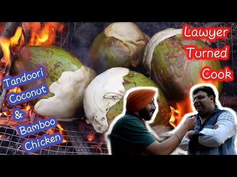 Lawyer turned Cook introduced Bamboo & Coconut Chicken   First Time In Ludhiana   Street Food