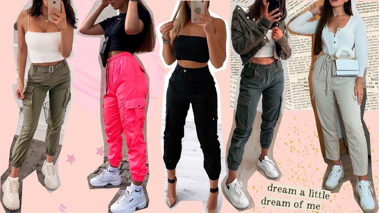 Como Usar Pantalones Cargo Outfits Con Cargo Pants Lindas Vanidosas Youtube