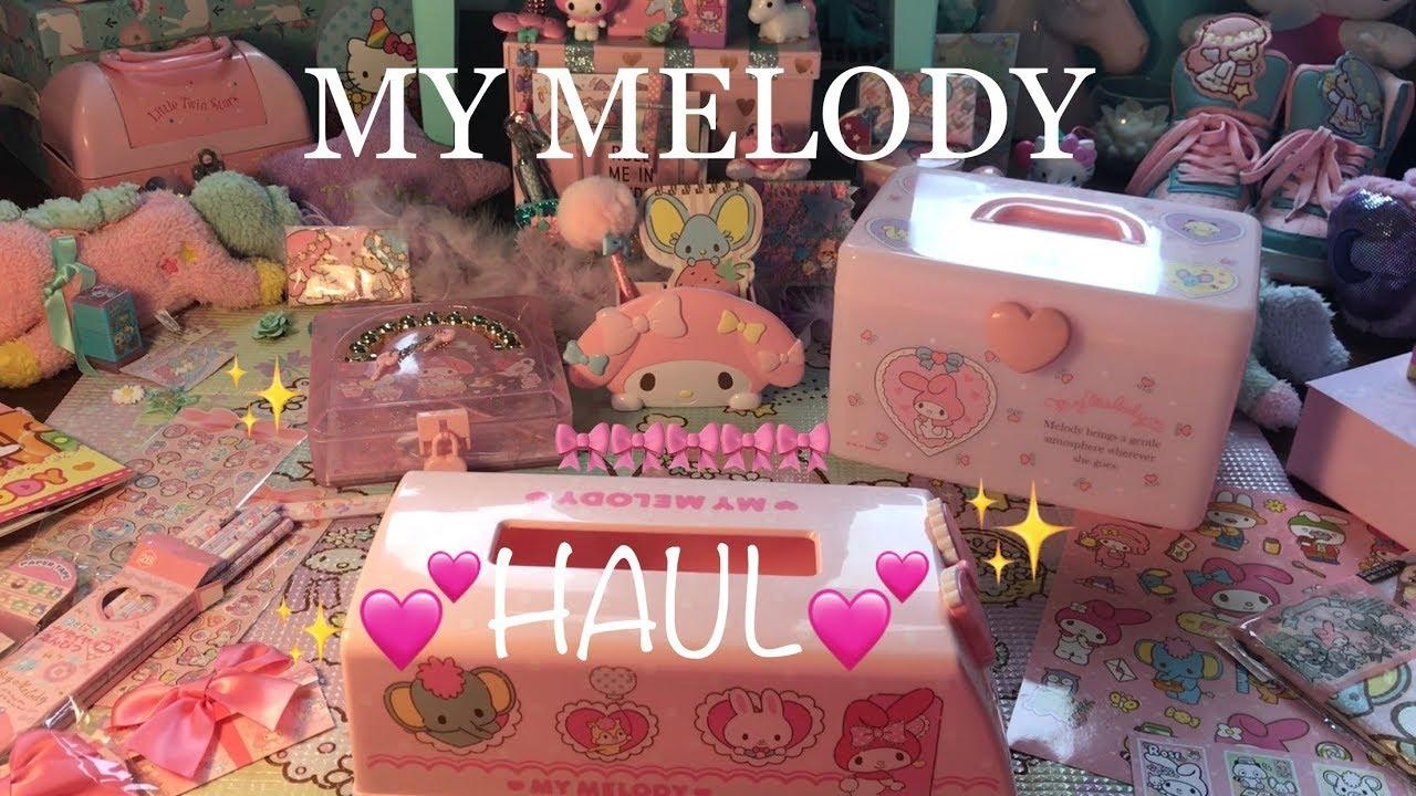 01bf1a14d MY MELODY HAUL!!! SANRIO HAUL MARCH 2018, KAWAII/JAPAN HAUL - YouTube