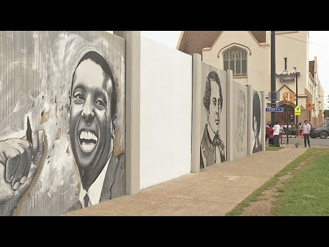 Work underway on Buffalo mural depicting civil rights leaders