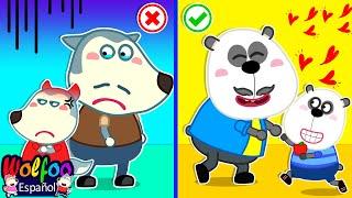 Download lagu ¿Quién Es El Mejor Papá? | Wolfoo Video Para Niños | Wolfoo en Español