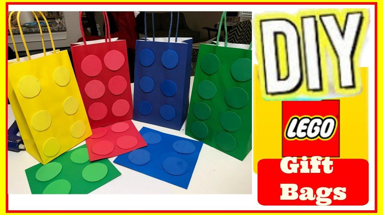 Diy: Lego Gift Bags Cheap & Easy - lego - YouTube