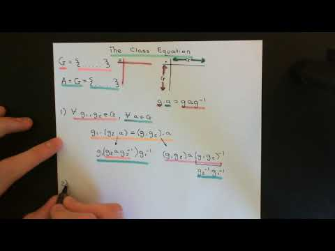The Class Equation Part 1
