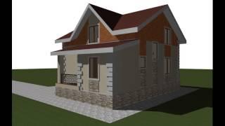 Дом из пеноблока проект ПБ-123(Проекты домов из пеноблока, видео презентация, 3д модель дома пб-123. Общая площадь: 121 Жилая площадь: 75 Площадь..., 2015-06-26T15:44:34.000Z)