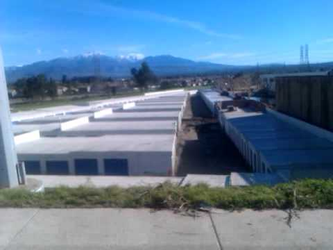 Loma Linda Flood Aftermath, Parking Lot, Church, Storage Mess - Mountain View Ave