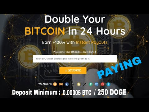 NEW!! DOUBLER BITCOIN | PROFIT 100% AFTER 24 HOURS | PAYING