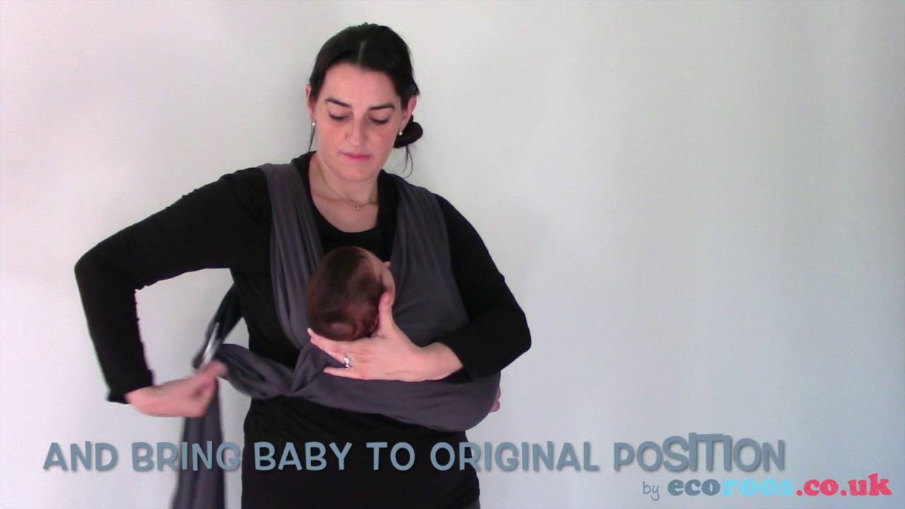 Breastfeeding In Sling Close Caboo In Cradle Position With Newborn