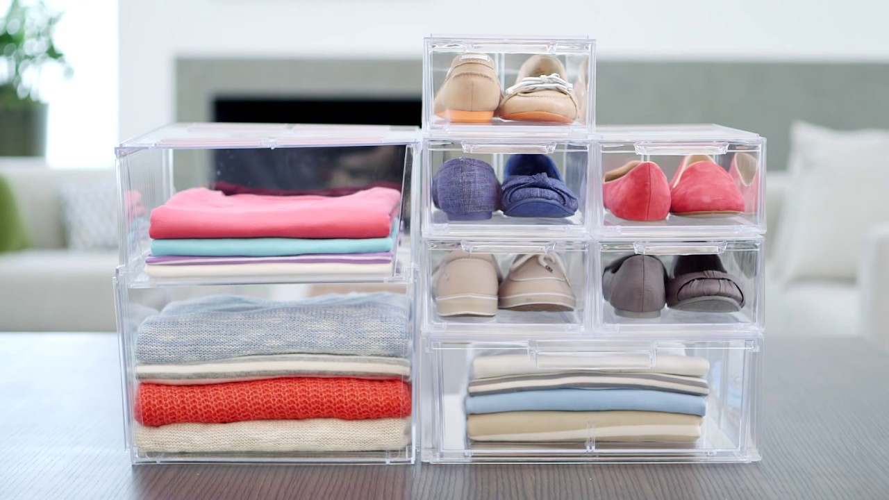 Bon Clear Stacking Drawers U0026 Bins