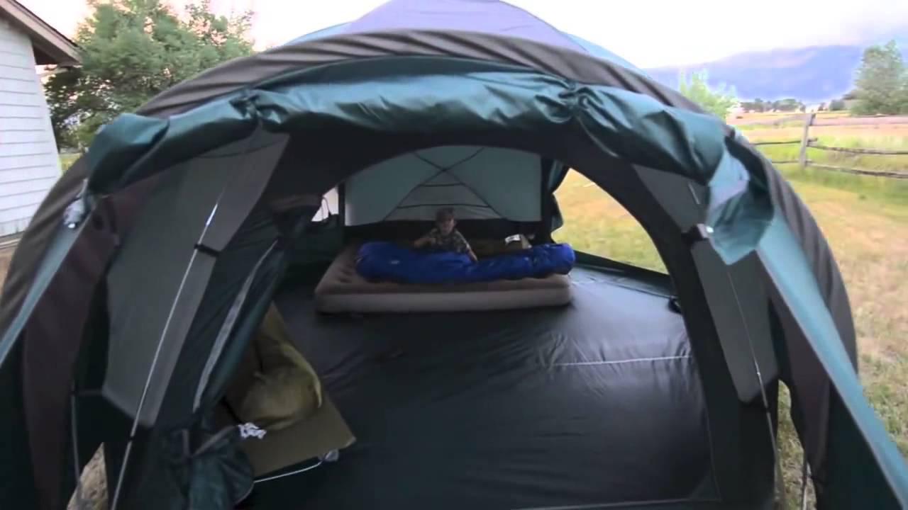 15ad6a384f Cabelas Alaskan Guide Tent - YouTube