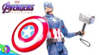 """SCALE ARMOR CAPTAIN AMERICA"" Avengers Endgame Figure Review | Hasbro Basic"