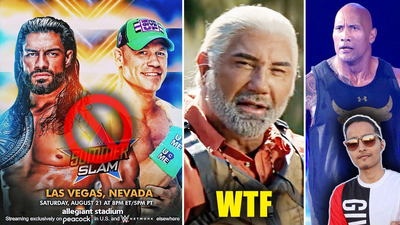 WWE SummerSlam 2021 In DANGER😢...Batista WTF? John Cena Wants The Rock to WWE, CM Punk CONFIRMED
