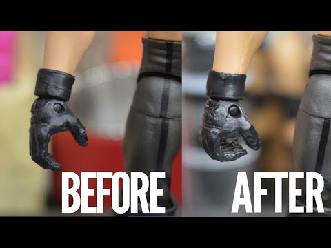WWE FIG HACK! HOW TO MAKE CUSTOM HANDS FOR YOUR FIGURES!
