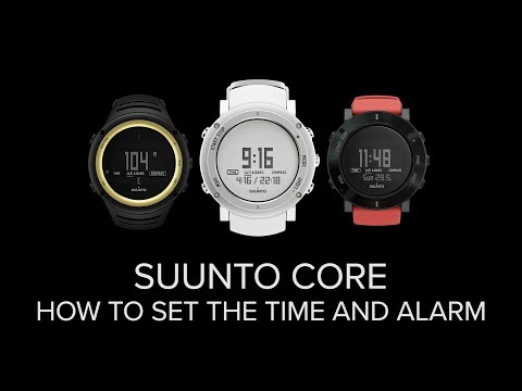 Suunto Core - How to set the time and alarm