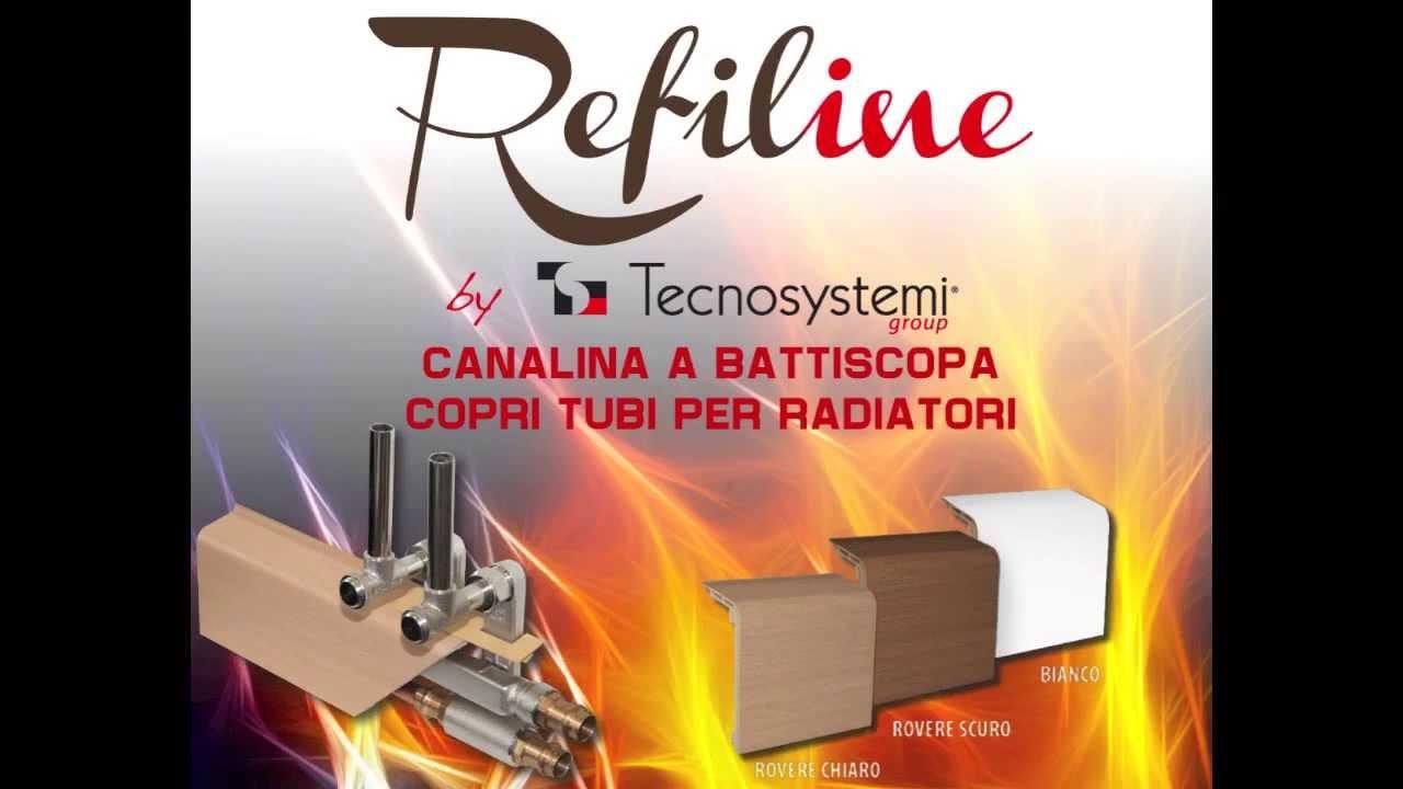 canalina a battiscopa copritubi per radiatori refiline