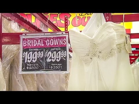Buying a wedding dress at Ollie's