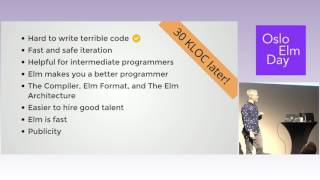 Nils Eriksson – Move Fast and Don't Break Things. Running a Startup on Elm | OsloElmDay 2017