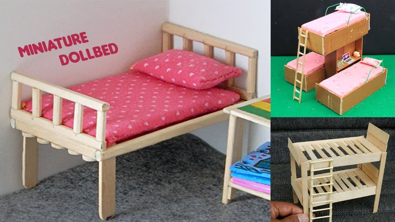 6 Easy Miniature Furniture Dollbed Amp Popsicle Stick Bunk