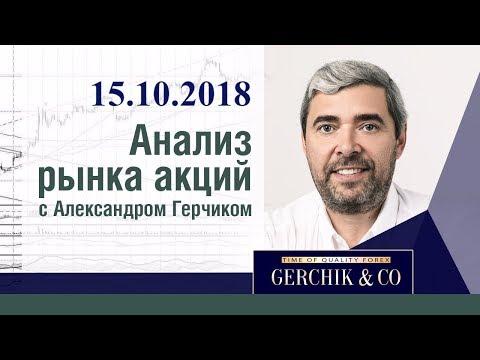 Анализ акций 15.10.18 ✦ Фондовый рынок США и ЕВРОПЫ ✦ Лучший анализ Александра Герчика