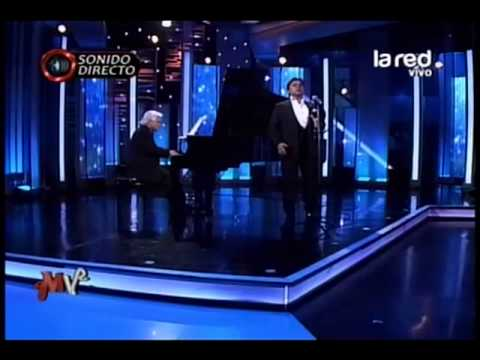 """Roberto Bravo y Tito Beltrán en el estudio de Mentiras Verdaderas. Interpretan """"Caruso"""""""
