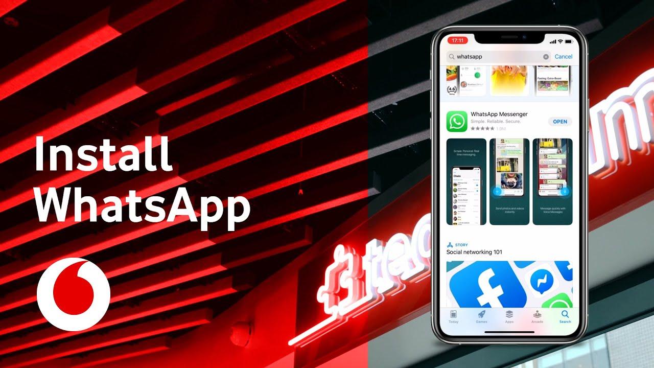 WhatsApp  How to install WhatsApp  iOS iPhone  TechTeam  Vodafone UK