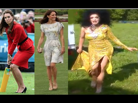 f8bb1e453404 KATE MIDDLETON S CHALLENGE WALKING ON GRASS WITH HIGH HEELS - YouTube