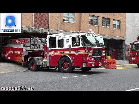 FDNY Tiller Ladder 20 (+ Ghostbusters Ladder 8 responding modified)