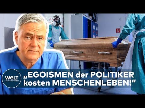 """CORONA-DRAMA! """"Die Egoismen der Politiker kosten Menschenleben!"""" - Prof. Janssens I WELT Interview"""