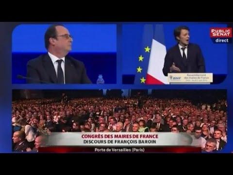 Les demandes de François Baroin à François Hollande au Congrès de l