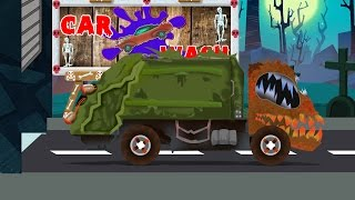 garbage truck | scary car wash