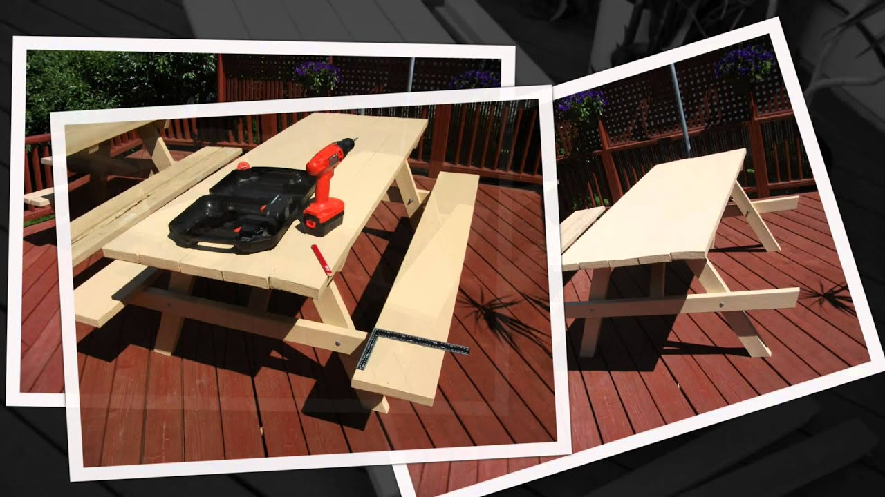 DIY: Build your own picnic table, kit form, part 2. - YouTube