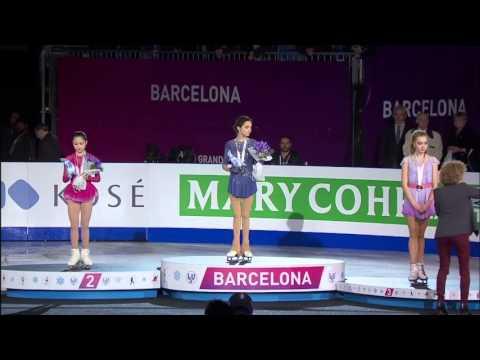 ISU Grand Prix of Figure Skating 2015/2016. Ladies. Victory Ceremony