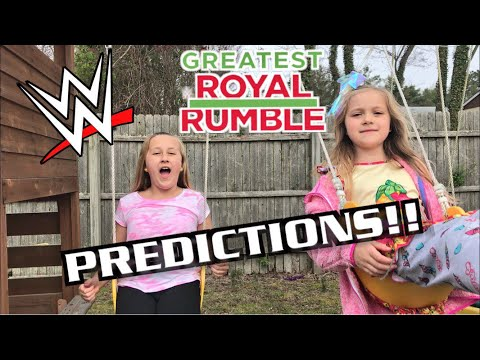 WWE GREATEST ROYAL RUMBLE PREDICTIONS w/THE GRIMMETTES!