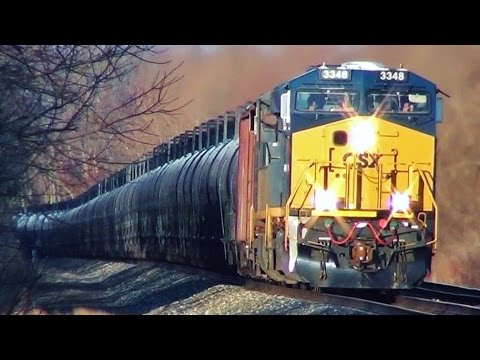 CSX Oil Tanker Train