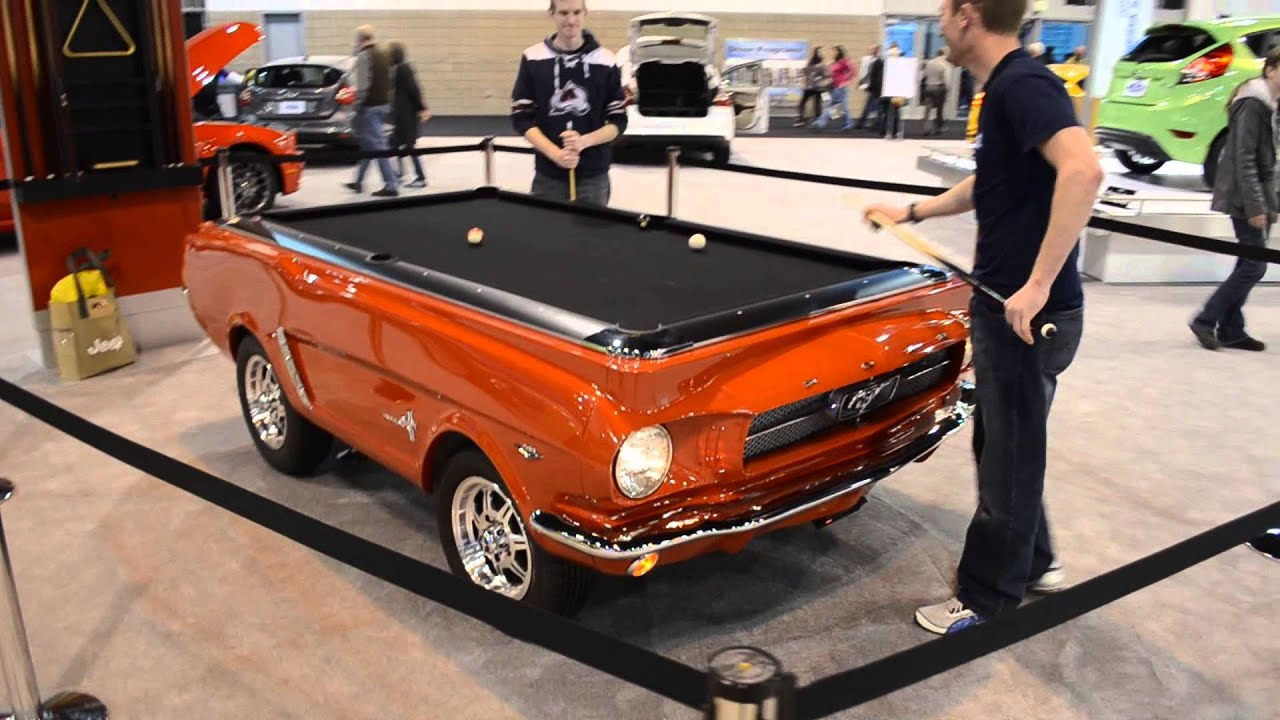Delightful Ford Mustang Pool Table   YouTube