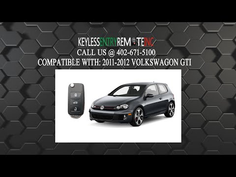 How To Replace Volkswagen GTI Key Fob Battery 2011 2012