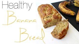 Healthy Fluffy Banana Bread | 5 Ingredients, Gluten Free, Sugar Free