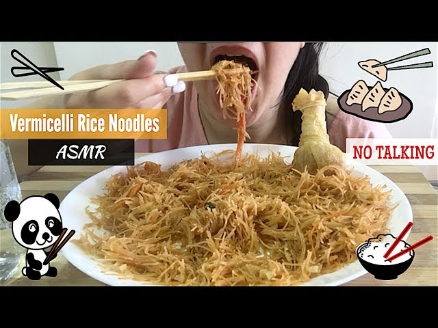 Asmr Vermicelli Rice Noodles Wonton Eating Show Mukbang Eating Sounds Asmr Eats