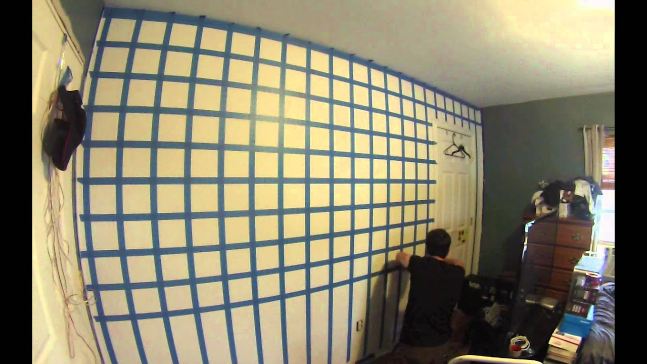 HD] 3D Cube wall painting time lapse - YouTube