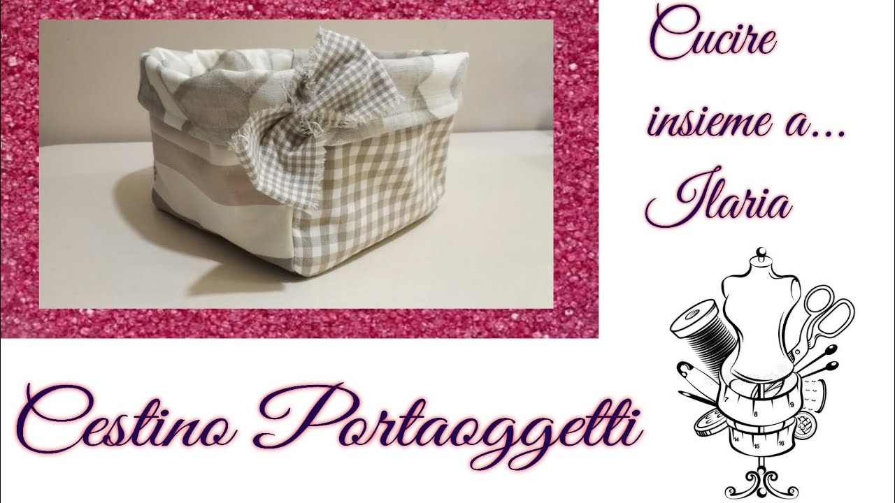 Cestini Da Lavoro Per Cucito cestino portaoggetti patchwork