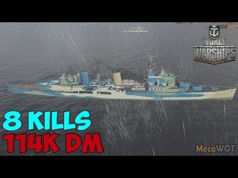 World of WarShips | Belfast | 8 KILLS | 114K Damage - Replay Gameplay 1080p 60 fps