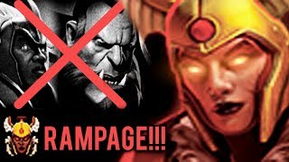 POWER OF ARCANA LEGION COMMANDER COUNTER CHEN and Lycan ARMY WTF RAMPAGE DOTA 2