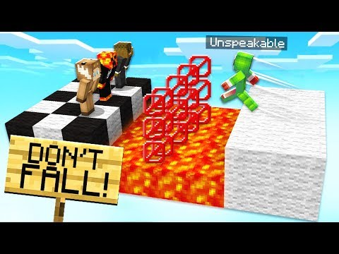 FUNNIEST MINECRAFT 1.13 LAVA WIPEOUT CHALLENGE! - TROLLING UNSPEAKABLEGAMING! thumbnail