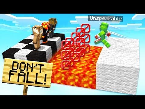 FUNNIEST MINECRAFT 1.13 LAVA WIPEOUT CHALLENGE! - TROLLING UNSPEAKABLEGAMING!