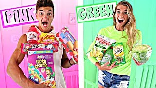 LAST TO STOP EATING THEIR COLORED FOOD CHALLENGE WINS $1,000