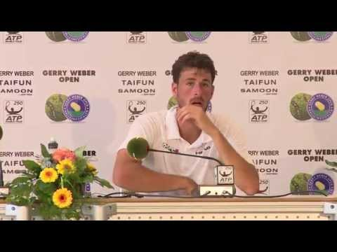 Gerry Weber Open 2014 - 1. Runde - Pressekonferenz Robin Haase