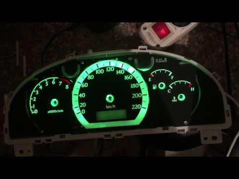 Замена подсветки  приборной панели и климата Chevrolet Lacetti