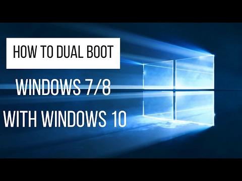 How To Dualboot Windows 7/8 With Windows 10! (2017)