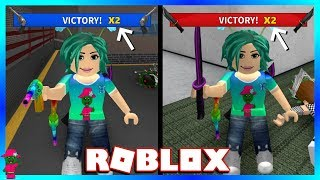 MY LUCKIEST GAME EVER!!! (Roblox Murder Mystery 2)