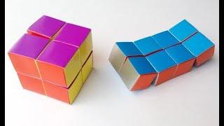 цВЕТНЫЕ КУБИКИ  Как сделать кубик из бумаги своими руками